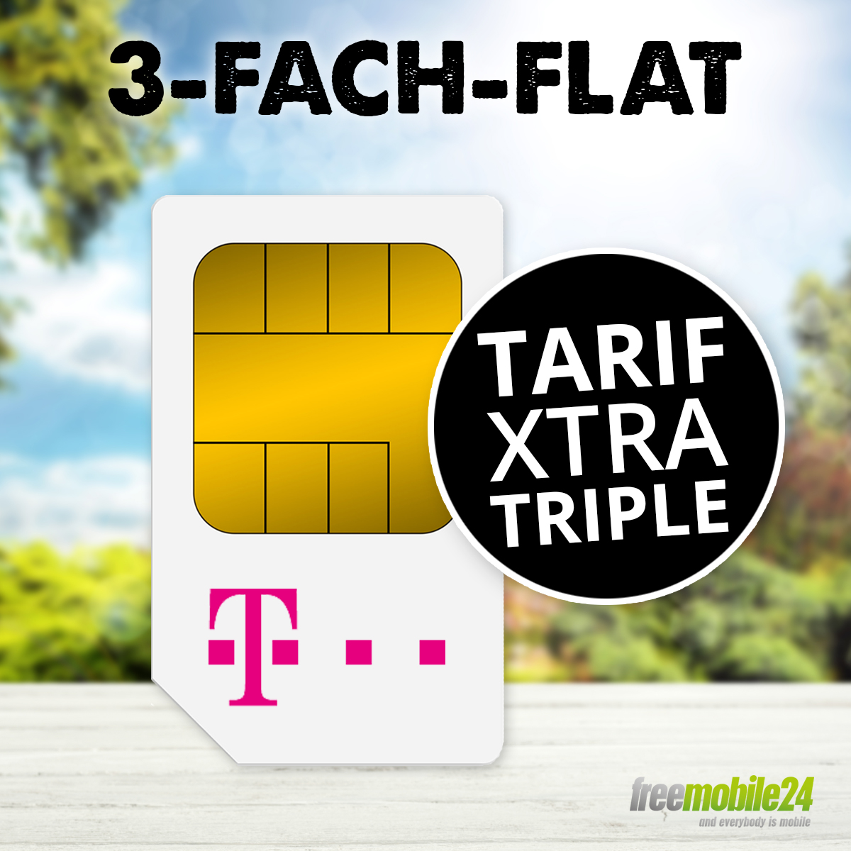 xtra triple prepaid 10 startguthaben sim karte telekom internet sms flat neu ebay. Black Bedroom Furniture Sets. Home Design Ideas